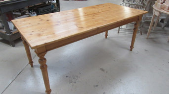 Beeswax and Damar finish on antique pine German table