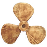 """Wooden Propeller - The wooden propeller measures 13"""". It will add a definite nautical touch to whatever room it is placed in and is a must have for those who appreciate high quality nautical decor. It makes a great gift, impressive decoration will be admired by all those who love the sea."""