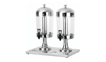 8 L Stainless Dual Bowl Juice Dispenser, Each