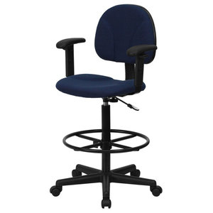 Prime Offex Black Patterned Fabric Ergonomic Drafting Stool With Squirreltailoven Fun Painted Chair Ideas Images Squirreltailovenorg