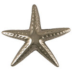 Michael Healy Designs - Starfish Door Knocker, Nickel Silver, Standard Size - Known for strength and luck, let this star of the sea become the star of your doorway. Cast in solid brass and hand finished, the Starfish is unmatched in quality and craftsmanship. Surface mounted so there is no visible hardware inside, they are available in Premium or Standard size's in three finishes.