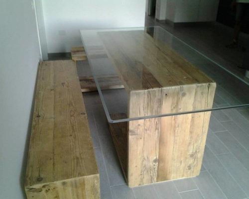 tavolo design in legno recuperato - Products