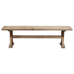 Rustic Dining Benches by Boraam Industries, Inc.