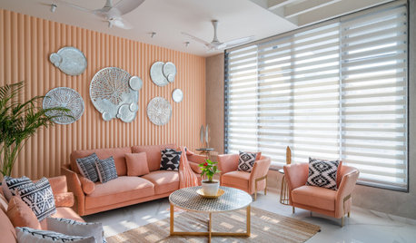 Anand Houzz: A Home Dipped In Cantaloupe Hues & Pristine Charm
