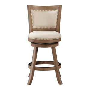 """Melrose 24"""" Counter Stool, Driftwood Gray Wire-brush"""