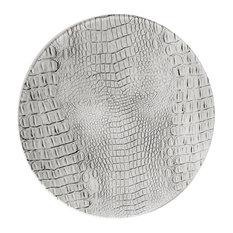 GiGi LONDON - Platinum Grey Crocodile Coasters, Set of 6 - Coasters