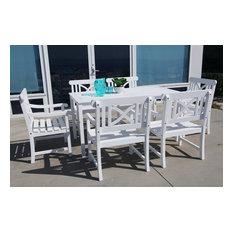 Bradley Wood 7-Piece Outdoor Dining Set, White