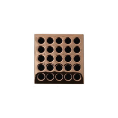 Square Shower Grate, Polished Copper