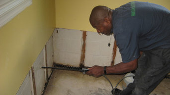 Before, during and after mold remediation in District Heights, MD