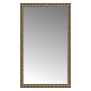 """36""""x59"""" Custom Framed Mirror, Distressed Silver"""