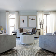 Room of the Day: Cool Grays Replace Beige in a Glam Space