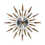 "Satellite Mid-Century Modern Vintage Wall Clock, 23"""