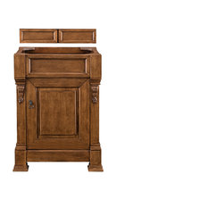 "Brookfield 26"" Vanity, Country Oak, 2cm Black Rustic Granite Top"