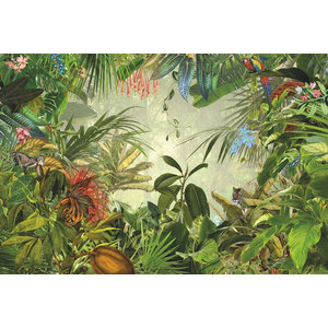 Into the Wild Tropical Photo Wall Mural, 368x248 cm