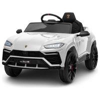 12V 7AH Kids Car Licensed Lamborghini Electric Vehicle High/Low Speed, White
