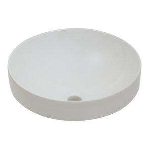 Semi-Recessed Fireclay Vessel Sink, White