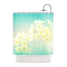 Kess InHouse   Monika Strigel  Happy Spring  Yellow Teal Shower Curtain   Shower  CurtainsYellow Grey Shower Curtain   Houzz. Yellow And Teal Shower Curtain. Home Design Ideas