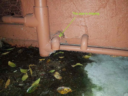 Water Dripping From A Small Pipe, How To Tile Around A Waste Pipe Leak