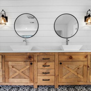Modern Farmhouse Bathroom- Greenspring