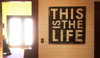 This is the Life 30 x 30 rustic wall sign