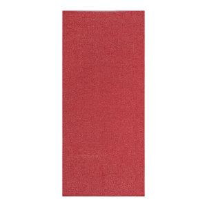 Plain Jacquard Woven Vinyl Floor Cloth, Red, 150x250 cm