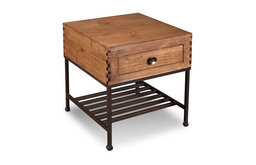 Parker Rustic Style Solid Wood End Table