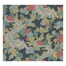 York Wallcoverings Dr6300 Dwell Studio Ming Dragon Wallpaper, Blues