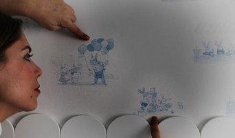 Habitación de juegos para Pablo y Manuel. Imagen del papel de pared de la firma