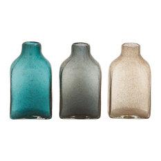 The Delicate Glass Bottle Vases, 3 Piece Set