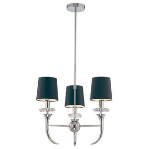 Savoy House Europe Carla Chandelier, Black, 3 Lights