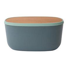 Leo Bamboo Bread Box With Cutting Board