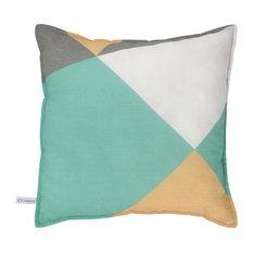 Geometric Print Square Pillow