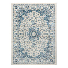 Karina Traditional Medallion Cream Rectangle Area Rug, 8' x 10'