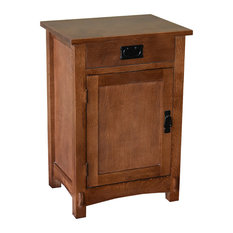 Arts and Crafts Mission Solid Oak Nightstand