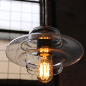Lighting fixtures with Clear Glass Shades