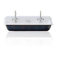 Kohler Large 48 Kohler Farm Sink Cast Iron Porcelain Trough Sink Package Hague Blue