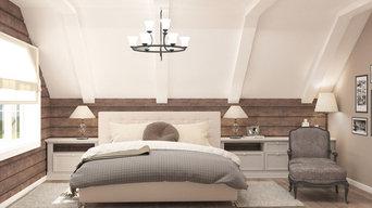 """Спальня хозяев """"Архитектура - диктует правила"""""""