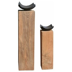 Transitional Candleholders by Chic Teak