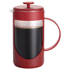 Coffee Ami-Matin 3-Cup French Press, Red