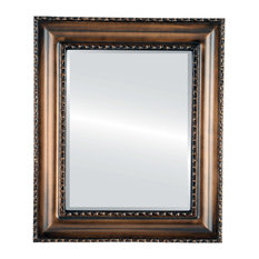 Somerset Framed Rectangle Mirror, Rubbed Bronze, 25x35