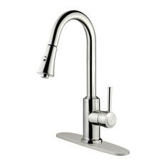 LessCare - Brushed Nickel Finish Pull-Down Kitchen Faucet LK11B, 1 Hole, 3 Holes - Kitchen Faucets