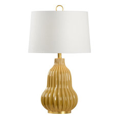 OLIVER Table Lamp WILDWOOD HOME 1-Light Off-White Butterscotch Glaze