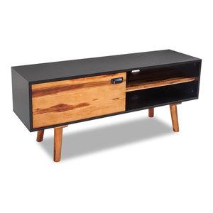 vidaXL Solid Acacia Wood TV Cabinet, 120x35x50 cm