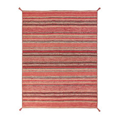 """ANDES Santa Fe Rust Hand Made Cotton Chenille Area Rug, Red, 7'6""""x9'6"""""""
