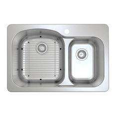 "33"" Tusca Series Dual-Mount 60/40 Double Bowl Sink"