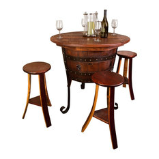 napa east collection old world table with cabinet set indoor pub and bistro sets
