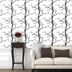 """Trees Wallpaper, Ash White, 25"""" X 8.5' - """"Swag Paper - Empowering the Do-It-Yourselfer:"""