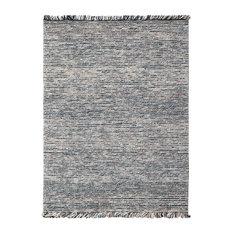 Oshawa Cozy Wool Gray Hand-Woven Area Rug 8'x10'