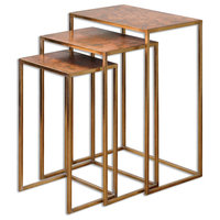Uttermost Copres Oxidized Nesting Tables, Set of 3