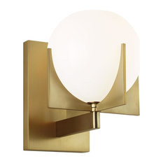 "Feiss VS2461 Abbott Single Light 8"" Tall Bathroom Sconce"